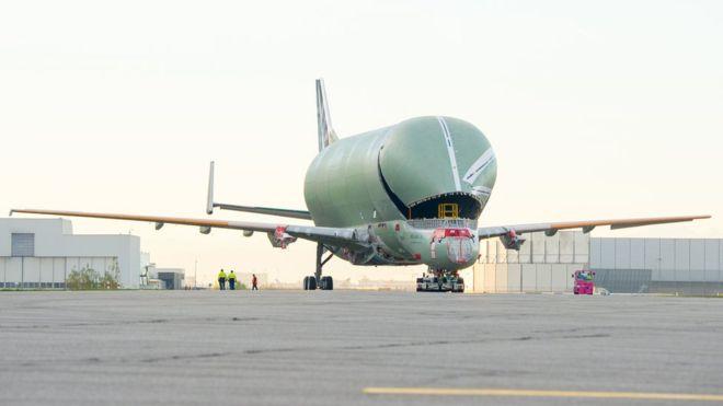El nuevo avión de carga de Airbus que parece una ballena